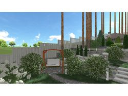 3d- визуализация ландшафтного проекта, цветника