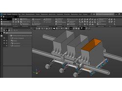 Оснащение бетонного завода Компас-3D