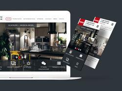 Дизайн сайта Кухни Scavolini + верстка