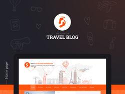 Дизайн блога о путешествиях