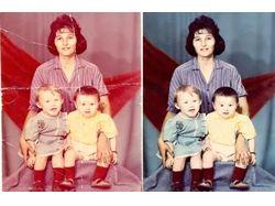 Реставрация старых фотографии и многое другое