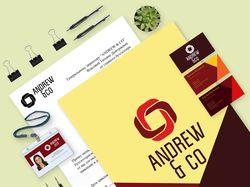 """фирменный стиль для компании """"ANDREW & CO"""""""