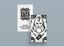 Логотип и визитка Вейп шопа