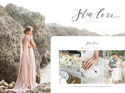 Cайт-портфолио для свадебного фотографа Julia Lexx