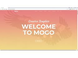 Вёрстка сайта The Mogo