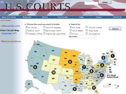 Парсер сайта судебной системы США www.uscourts.gov