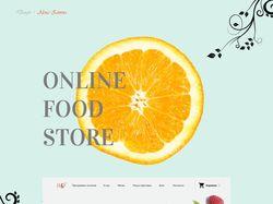 Дизайн для сервиса доставки здорового питания