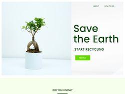 Landing Page для сервиса по вывозу мусора