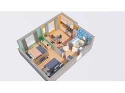 3D модели квартир с расстановкой мебели