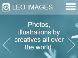 Вёрстка макета Leo Images