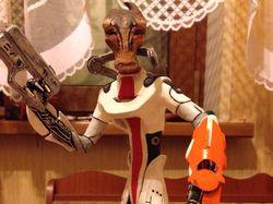 """Модель из глины из игры """"Mass Effect"""""""
