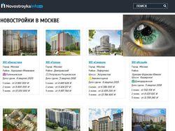 Наполнение новостройками novostroykainfo.ru