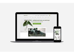 Дизайн сайта по продаже комнатных растений
