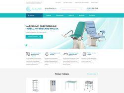 Верстка сайта по продаже торгового оборудования