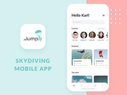 Дизайн мобильного приложения для скайдайвинга