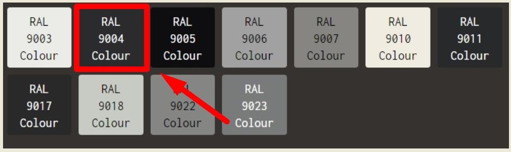 Подбор цвета фартука и столешницы по RAL