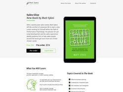 Посадочная страница для предзаказа книги