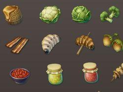 Fantasy RPG food icons