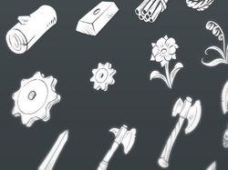 Fantasy RPG Flat Icons set