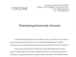 Рекомендательное письмо topzone24.ru (SEO)