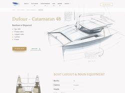 Корпоративный веб-сайт по аренде чартерных яхт