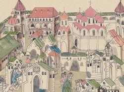 Владычный двор в стиле древнерусских летописей
