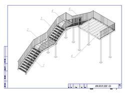 Лестница примыкающая к зданию