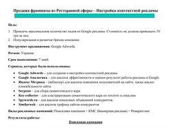 Google Ads Продажа франшизы из Ресторанной сферы