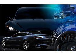 Коллаж для рабочего стола Mazda Shinari