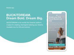 Портфолио для моб. приложения BUCKiTDREAM