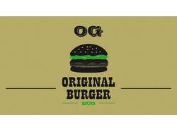 Дизайн логотипа ресторана Original Burger