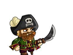 2d game art Pirate.