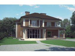 Проект жилого дома в Киевской области.
