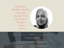 WIX разработчик / дизайнер Людмила Аралова