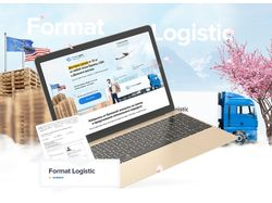 Format Logistic. Landing-Page