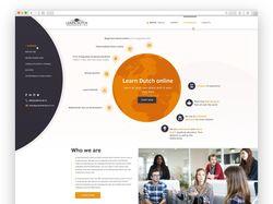 "Промо сайт ""Learn dutch online"""