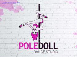 Логотип для студии танцев PoleDoll Dance Studio