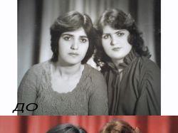 Обработка старинных фотографии!