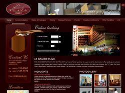 "Сайт гостиницы ""Le Grande Plaza"""