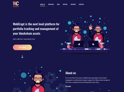 Landing Page - WebCrypt
