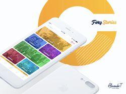 """Дизайн мобильного Приложения """"FoxyStories"""""""