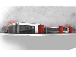 Проект спортивного центра на 3000 зрителей