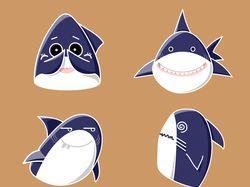 Стикеры акулы