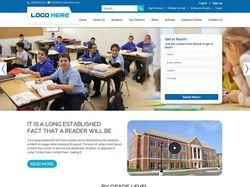 Домашняя страница школы - адаптивная html верстка