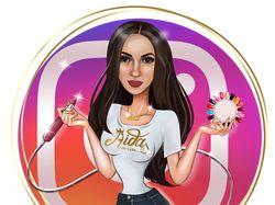 Aida – Beauty шарж для мастера маникюра.