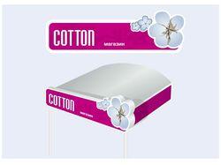 Рекламная вывеска магазина модной одежды «Coton»
