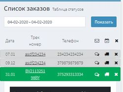 Трекинг система почтовых отправлений + SMS notify