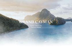 Сайт для бронирования вилл на Каймановых островах