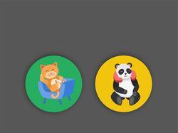 разработка персонажей для иконок в векторе