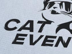 Логотип агенства организации ивентов CAT EVENT